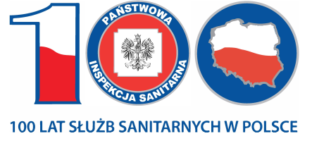 Logo 100 lat służb sanitarnych w Polsce
